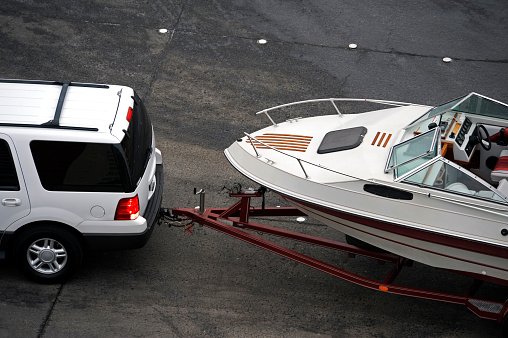 SUV Towing a Boat
